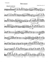 Berceuse (arr. for cello and piano)